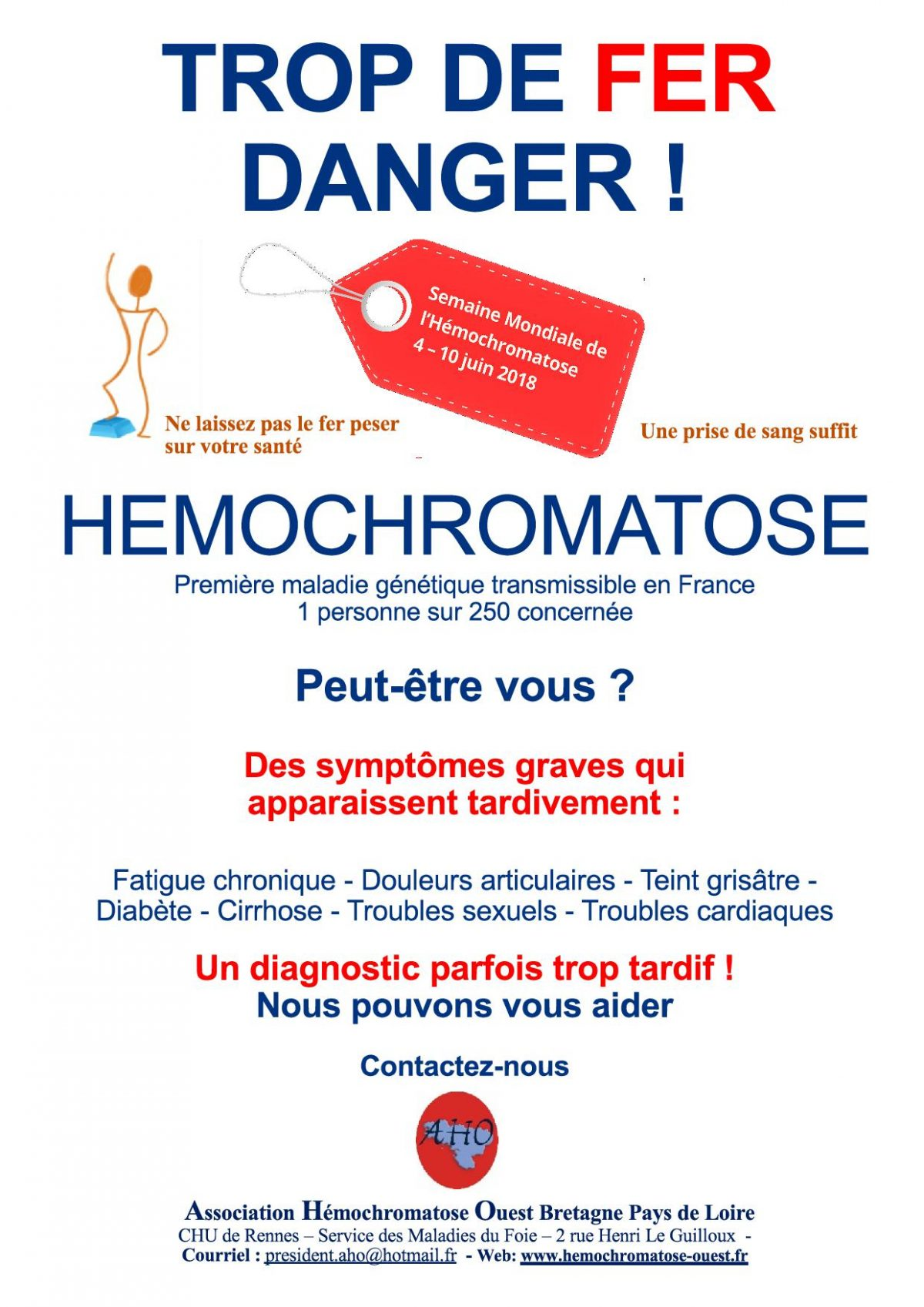 Affiche Hémochromatose