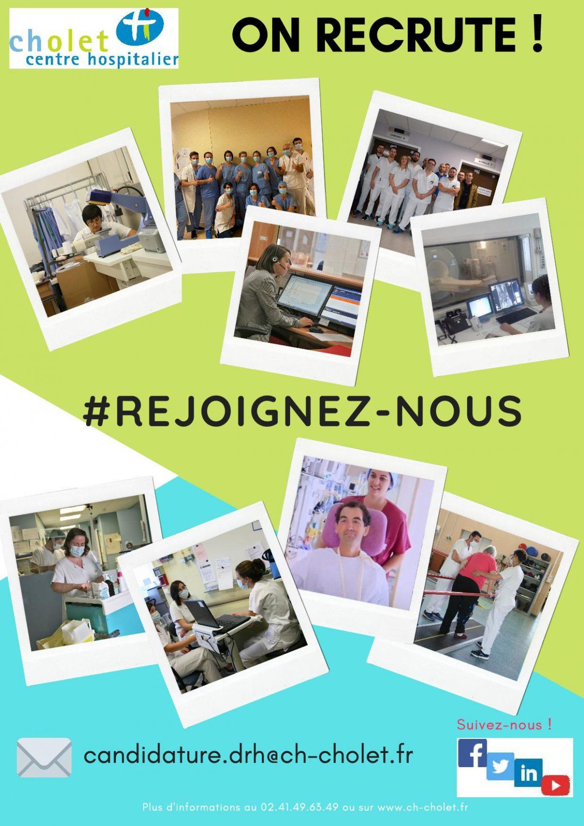 Le Centre Hospitalier de Cholet recrute