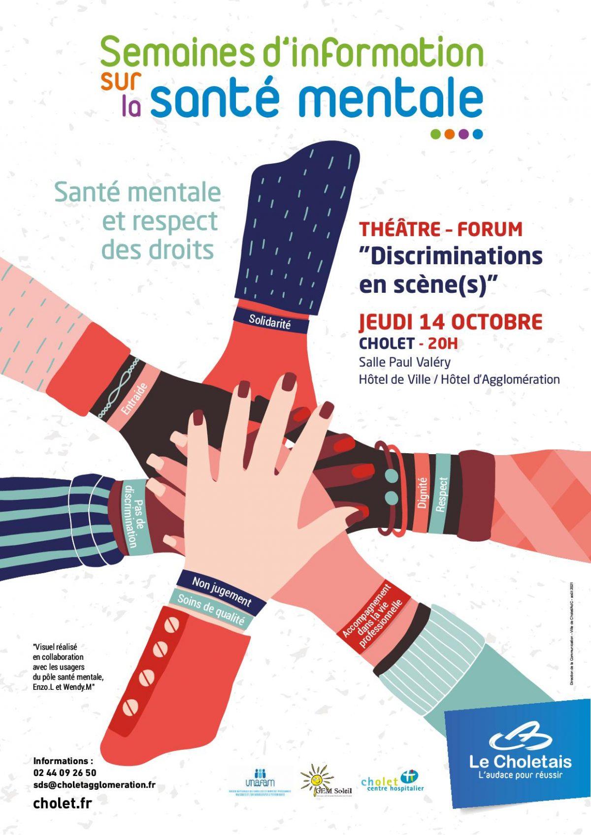 Semaine d'information sur la santé mentale 2021 : Théâtre Forum 14/10/2021